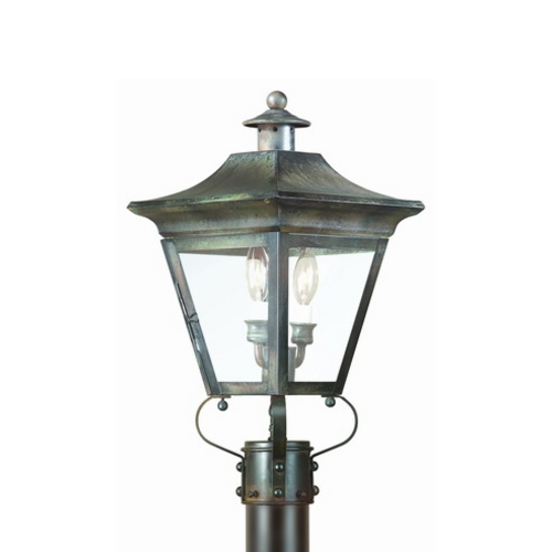 Troy Lighting Post Light with Clear Glass in Charred Iron Finish PCD8931CI
