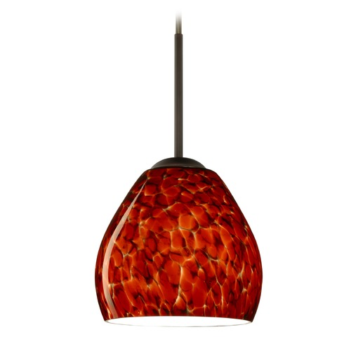 Besa Lighting Besa Lighting Bolla Bronze Mini-Pendant Light with Bowl / Dome Shade 1BT-412241-BR