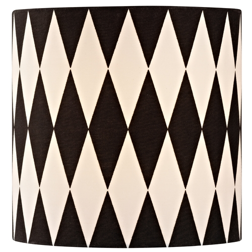 Design Classics Lighting Black / White Drum Lamp Shade with Uno Assembly SH9489