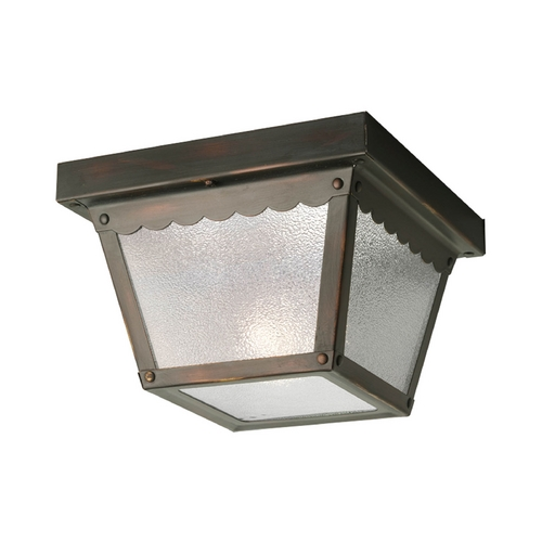 Progress Lighting Progress Outdoor Ceiling Light with White Glass in Bronze Finish P5727-20