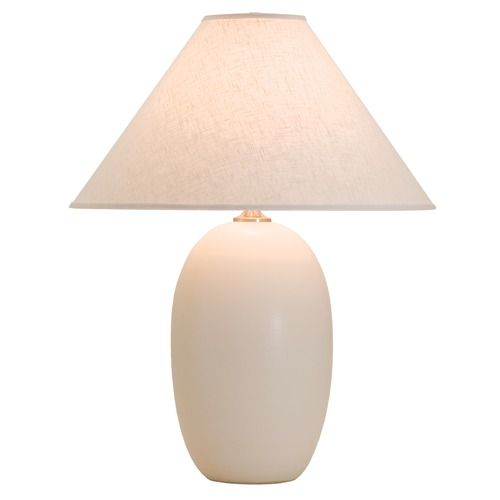 House of Troy Lighting House Of Troy Scatchard White Matte Table Lamp with Conical Shade GS150-WM