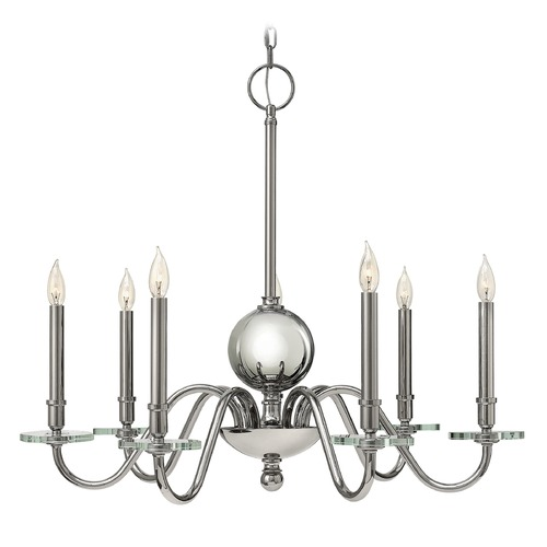 Hinkley Lighting Hinkley Lighting Everly Polished Nickel Chandelier 4206PN