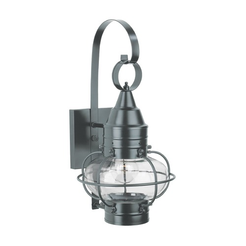 Norwell Lighting Norwell Lighting Classic Onion Gun Metal Outdoor Wall Light 1513-GM-CL