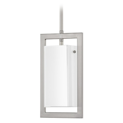 Capital Lighting Capital Lighting Tahoe Brushed Nickel Mini-Pendant Light with Rectangle Shade 4751BN-153