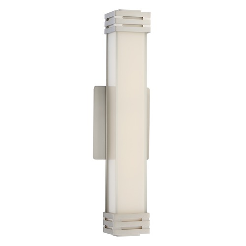 Quoizel Lighting Quoizel Lighting Platinum Collection Valiant Brushed Nickel Bathroom Light PCVT8518BN