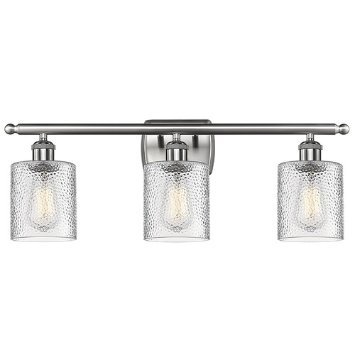 Innovations Lighting Innovations Lighting Cobbleskill Brushed Satin Nickel Bathroom Light 516-3W-SN-G112