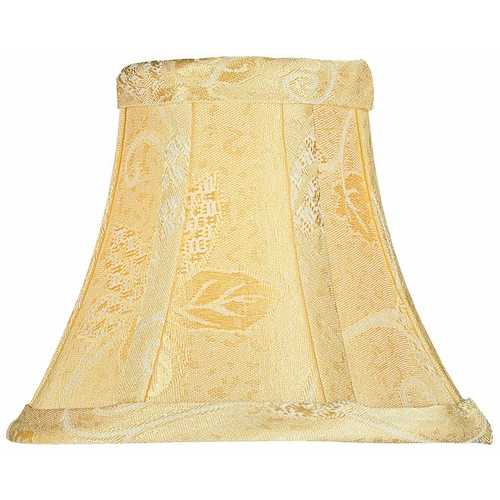 Lite Source Lighting Beige Bell Lamp Shade with Clip-On Assembly CH581-6