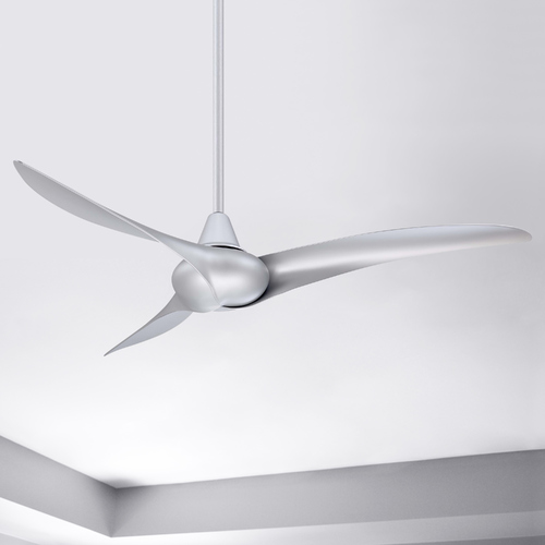 Minka Aire 52-Inch Modern Ceiling Fan Without Light in Silver Finish F843-SL