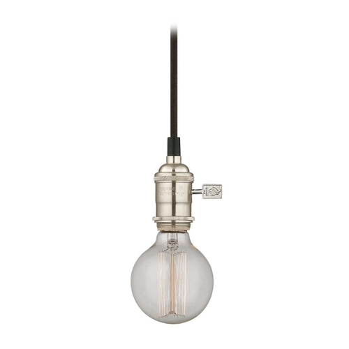 Design Classics Lighting Cloth Cord Mini-Pendant Light with 40-Watt Retro Globe Bulb CA1-09 40G25 FILAMENT