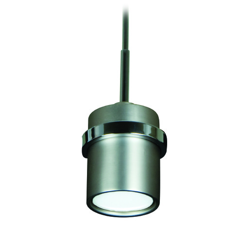 Jeremiah Lighting Jeremiah 5th Avenue Brushed Satin Nickel, Chrome Mini-Pendant Light with Cylindrical Shade 9506BNCH1