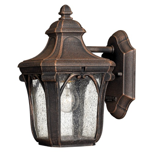 Hinkley Lighting Outdoor Wall Light with Clear Glass in Mocha Finish 1316MO