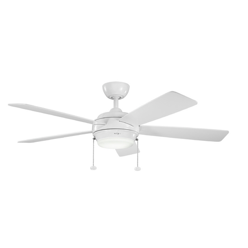 Kichler Lighting Kichler Lighting Starkk White Ceiling Fan with Light 300173WH