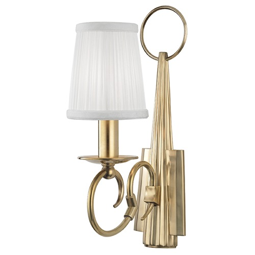 Hudson Valley Lighting Caldwell 1 Light Sconce - Aged Brass 1691-AGB