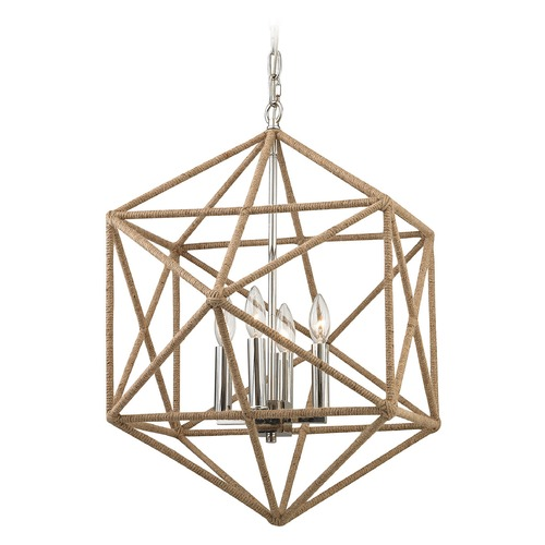 Elk Lighting Elk Lighting Exitor Polished Nickel Pendant Light 31585/4