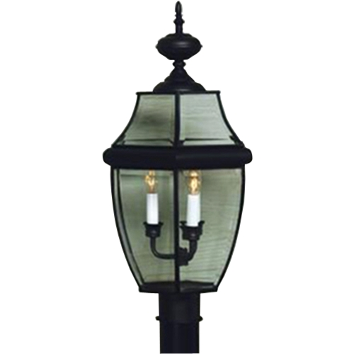 Quoizel Lighting Post Light with Clear Glass in Mystic Black Finish NY9045K