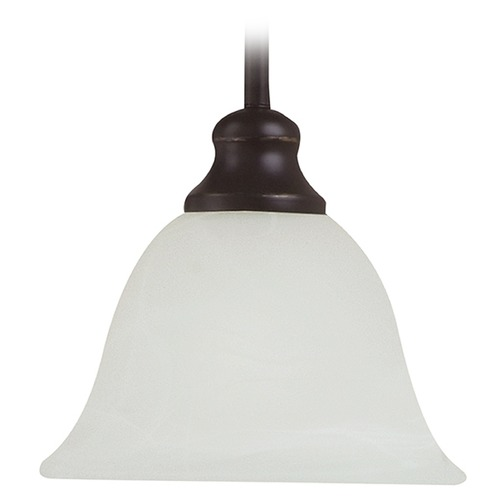 Sea Gull Lighting Mini-Pendant Light with White Glass 61940-782