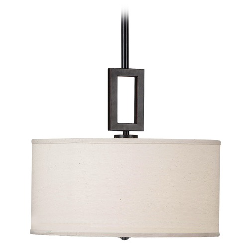 Kenroy Home Lighting Drum Pendant Light in Oil Rubbed Bronze Finish 10061ORB