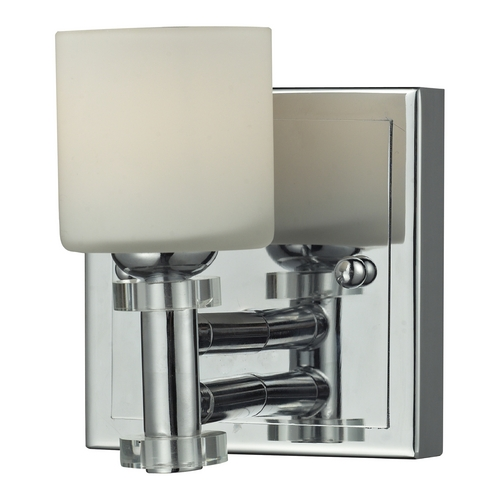 Elk Lighting Sconce Wall Light with White Glass in Chrome Finish 84070/1