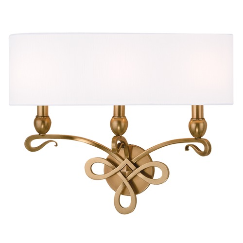 Hudson Valley Lighting Pawling 3 Light Sconce - Aged Brass 7213-AGB
