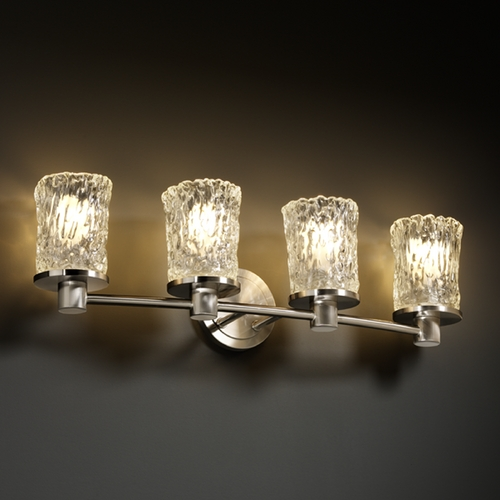 Justice Design Group Justice Design Group Veneto Luce Collection Bathroom Light GLA-8514-16-CLRT-NCKL