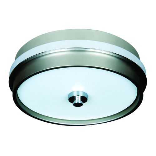 Jeremiah Lighting Jeremiah 5th Avenue Brushed Satin Nickel, Chrome Flushmount Light 9513BNCH3