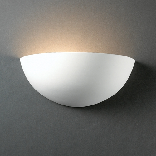 Justice Design Group Sconce Wall Light in Bisque Finish CER-1300-BIS