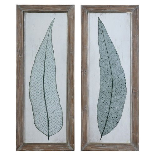 Uttermost Lighting Uttermost Tall Leaves Framed Art Set of 2 41514