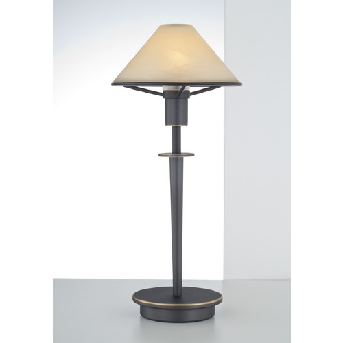 Holtkoetter Lighting Holtkoetter Lighting Hand-Brushed Old Bronze Table Lamp with Conical Shade 6506 HBOB ALC
