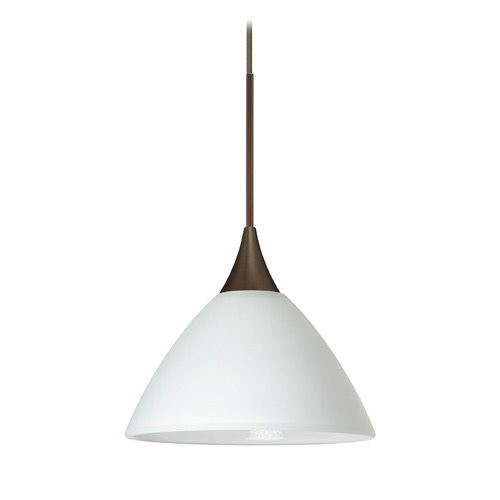 Besa Lighting Besa Lighting Domi Bronze LED Mini-Pendant Light with Bell Shade 1XT-174307-LED-BR