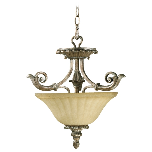 Quorum Lighting Quorum Lighting Barcelona Mystic Silver Pendant Light 2100-16-58