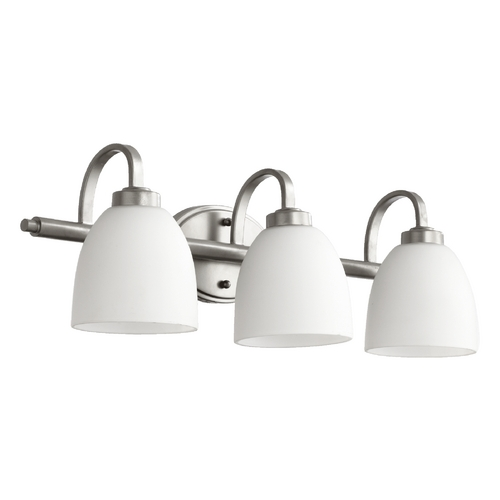 Quorum Lighting Quorum Lighting Reyes Classic Nickel Bathroom Light 5060-3-64