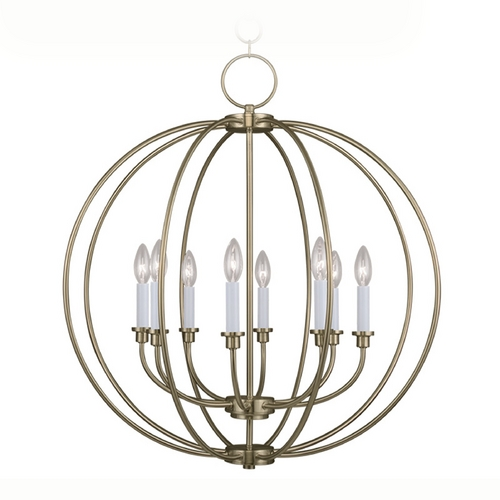 Livex Lighting Livex Lighting Milania Antique Brass Pendant Light 4668-01