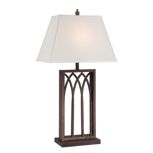 Lite Source Lighting Lite Source Lighting Cambridge Antique Rust Table Lamp with Rectangle Shade LS-22561