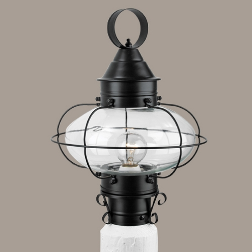 Norwell Lighting Norwell Lighting Cottage Onion Black Post Light 1321-BL-CL