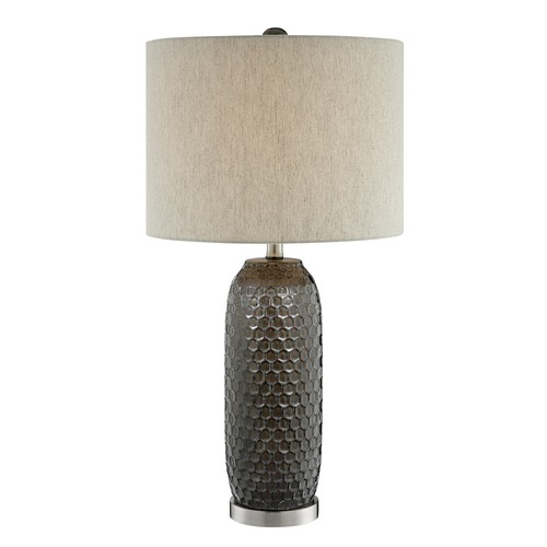 Lite Source Lighting Lite Source Covington Aged Bronze Table Lamp with Drum Shade LS-23186