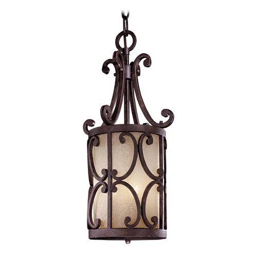 Metropolitan Lighting Pendant Light with Beige / Cream Glass in Golden Bronze Finish N6243-355