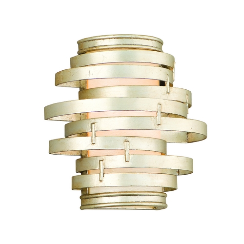 Corbett Lighting Modern Sconce with Silver Glass Shade in Modern Silver Finish 128-11