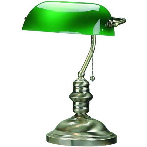 Lite Source Lighting Lite Source Lighting Banker Antique Brass Piano / Banker Lamp LS-224AB