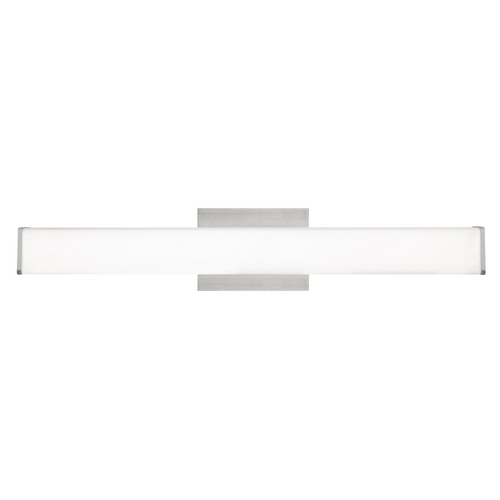 Tech Lighting Modern Bathroom Light with White Glass in Satin Nickel Finish 700BCLYNNWS-CF