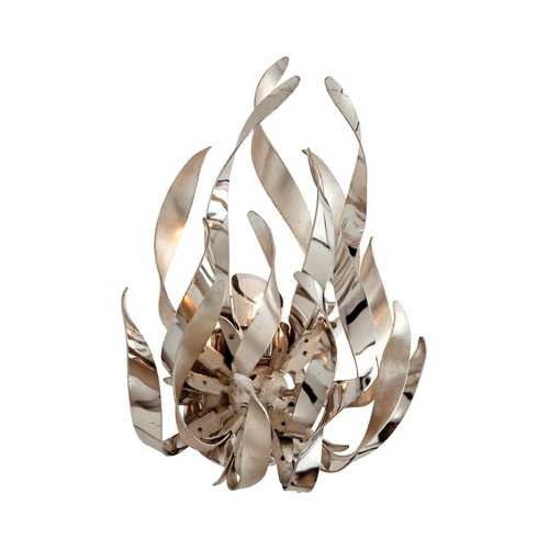 Corbett Lighting Corbett Lighting Graffiti Silver Leaf and Poli Sconce 154-11