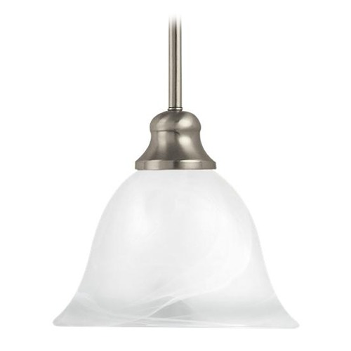 Sea Gull Lighting Mini-Pendant Light with White Glass 61940-962