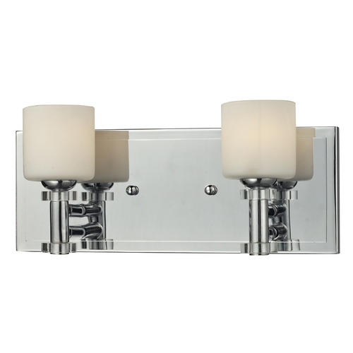 Elk Lighting Bathroom Light with White Glass in Chrome Finish 84071/2