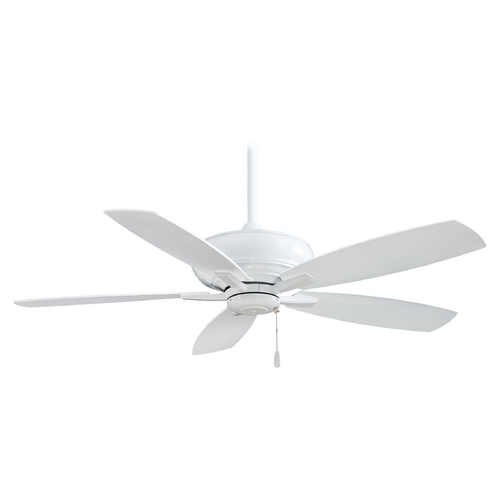 Minka Aire Ceiling Fan Without Light in White Finish F688-WH