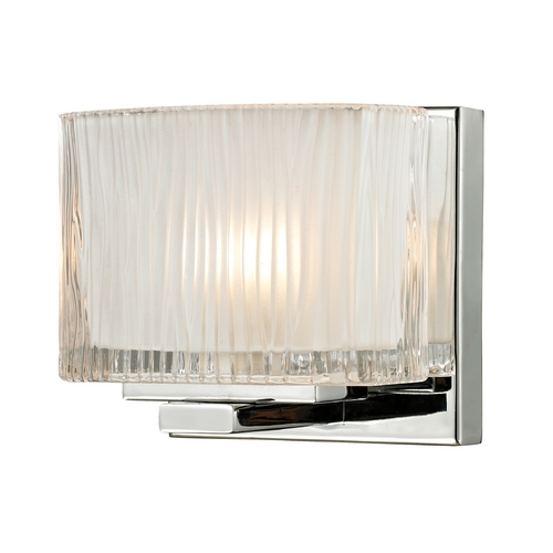 Elk Lighting Modern Sconce Wall Light with White Glass in Polished Chrome Finish 11620/1