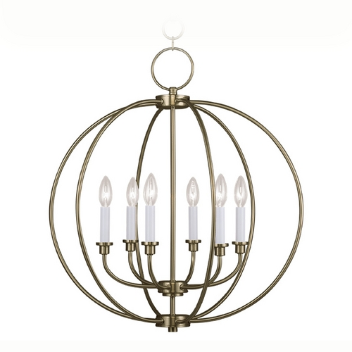 Livex Lighting Livex Lighting Milania Antique Brass Pendant Light 4666-01