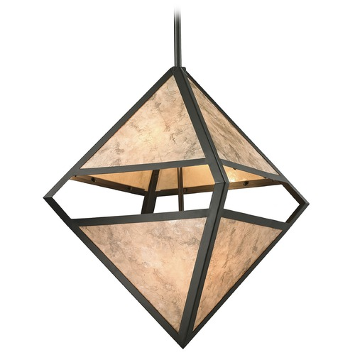 Elk Lighting Elk Lighting Mica Oil Rubbed Bronze Pendant Light 66931/4