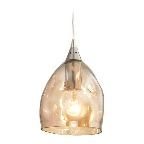 Elk Lighting Elk Lighting Niche Satin Nickel Mini-Pendant Light with Bowl / Dome Shade 31595/1