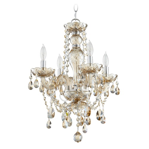 Quorum Lighting Quorum Lighting Bohemian Katerina Chrome Mini-Chandelier 630-4-614