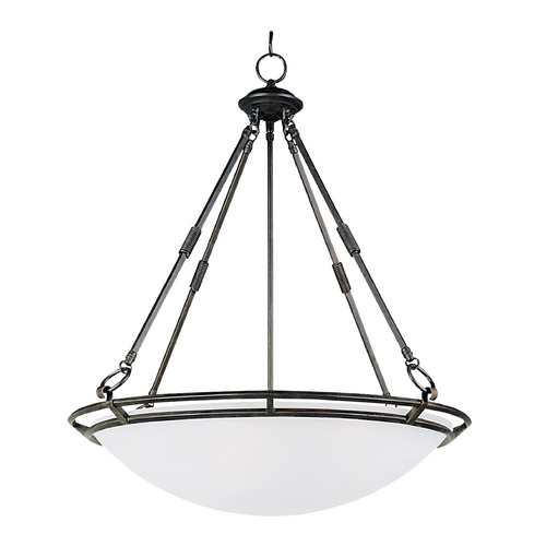 Maxim Lighting Modern Pendant Light with Alabaster Glass Shades in Bronze Finish 2673MRBZ