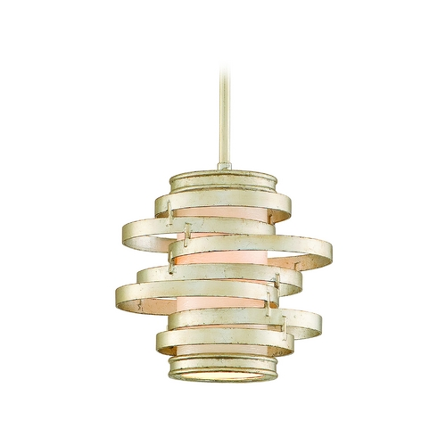 Corbett Lighting Modern Mini-Pendant Light with Beige / Cream Glass 128-41